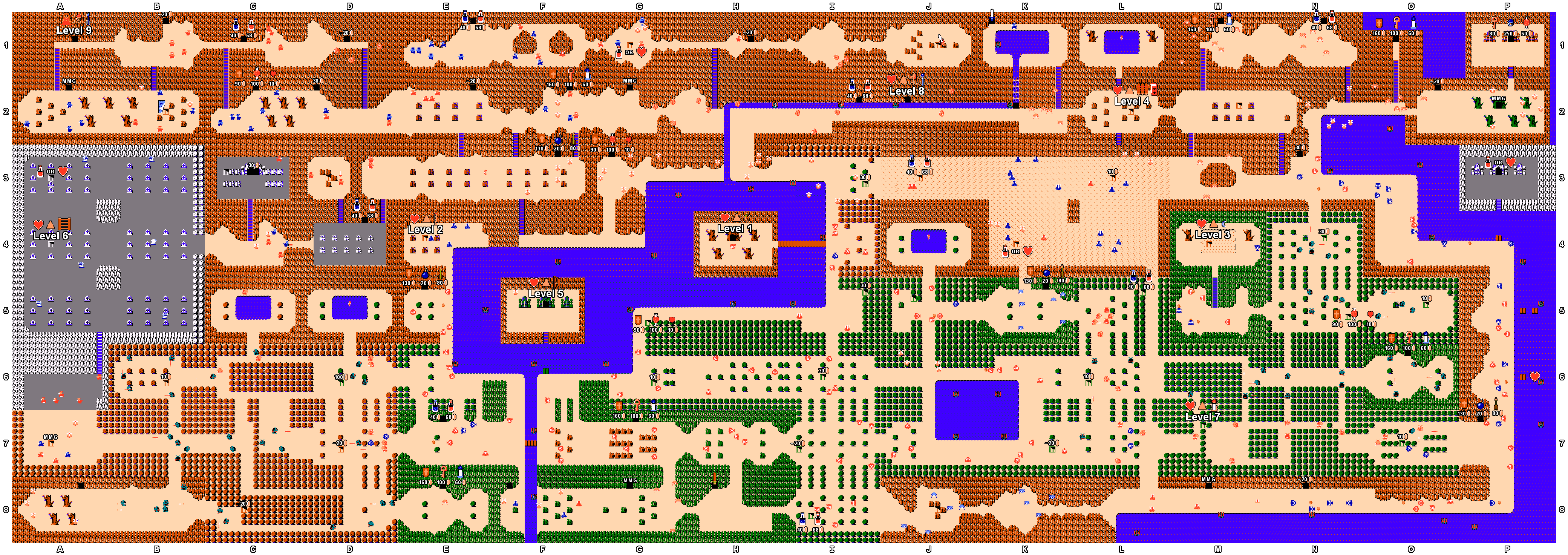 Mike's RPG Center - The Legend of Zelda on adventure of link map, dragon quest nes map, void a everquest map, metal gear nes map, mario nes map, ninja turtles nes map, metroid nes map, batman nes map, link nes map, star wars nes map, 360 the simpsons map, super metroid full map, hyrule total war world map, rygar nes map, castlevania nes map, chrono trigger nes map, dragon quest 6 map,